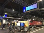 Fehlende Anzeigen am Hauptbahnhof in Zürich. (Bild: jk)