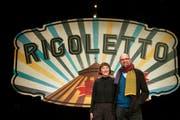Intendantin Elisabeth Sobotka und Regisseur Philipp Stölzl präsentieren das Programm der Bregenzer Festspiele 2019. (Bild: Bregenzer Festspiele/Lisa Mathis)