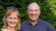 Happy: Beni Thurnheer und Kathrin Hildebrand. (Archiv SRF)