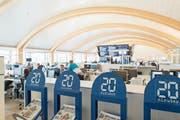 Blick in die Redaktionsräume von «20 Minuten» im Tamedia-Gebäude. (Bild: Christian Beutler/Keystone (Zürich))