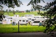 Ob Sinti, Roma oder Jenische: Fahrende sind in der Ostschweiz immer wieder anzutreffen. Wie hier im Gebiet Degenau-Höfrig im Sommer 2017.