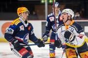 Zugs David McIntyre reagiert im Eishockeyspiel der National League zwischen den ZSC Lions und dem EV Zug am Dienstag, 13. November 2018, im Zürcher Hallenstadion. (Bild: Ennio Leanza/Keystone)