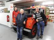 Sie haben das Feuerwehrmuseum in Meggen aufgebaut. Von links: Beat Gähwiler, Peter Storz und Erich Lischer. (Bild: PD)