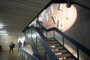 Gewerbliche Berufsschule St. Gallen im Riethüsli. (Bild: Ralph Ribi)
