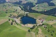 Auch der Wilersee fällt in die Gesamtrevision der Naturschutzgebiete. Bild: Stefan Kaiser (Menzingen, 1. Juli 2018)