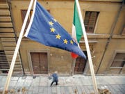 Haushaltsstreit zwischen Rom und Brüssel: Die EU-Kommission wird sich am 21. November zum überarbeiteten Budgetentwurf Italiens äussern. (Bild: KEYSTONE/URS FLUEELER)