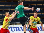 Die Thuner Handballer haben zwar wacker gespielt, aber wieder verloren (Bild: KEYSTONE/EPA COMPIC/MAURI RATILAINEN)
