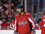 Jonas Siegenthaler durfte zum zweiten Mal für den NHL-Champion auflaufen (Bild: KEYSTONE/FR67404 AP/NICK WASS)