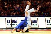 Evelyne Tschopp (links), die derzeit beste Schweizer Judoka, hier an der EM 2018 in Tel Aviv, wird ebenfalls an der Schweizer Meisterschaften im Athletik-Zentrum teilnehmen. (Bild: Ariel Schalit/AP)
