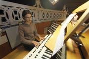 Leonie Imholz hat ihren ersten Auftritt an der Orgelnacht in Altdorf. (BIld: Florian Arnold, Altdorf, 14.11.2018)