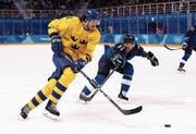 Auch an Olympia in Südkorea kam Dennis Everberg (links) für Schweden zum Einsatz.Bild: Ronald Martinez/Getty (Gangneung 18. 2. 2018)