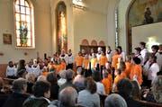In der Kapelle Dietfurt fand das Jubiläumskonzert des Frauenchors Bütschwil statt, an dem auch der Kinderchor mitwirkte. (Bild: PD)
