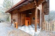 Ausstellungs-Küche bei der neuen Fuchsanlage im Natur- und Tierpark Goldau. (Bild: PD)