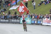 Auch sie profitiert von der Förderung: Alessandra Keller, amtierende U23-Weltmeisterin im Mountainbike aus Ennetbürgen. (Bild: PD)