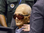 Gilt als einstiger Chefideologe des Rote-Khmer-Regimes: Nuon Chea. (Bild: KEYSTONE/AP Extraordinary Chambers In The Courts of Cambodia)