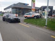 Blick auf die Unfallstelle. (Bild: Kapo TG)