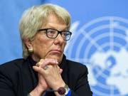 Spricht gerne Klartext: die frühere Uno-Chefanklägerin und Schweizer Bundesanwältin Carla del Ponte. (Bild: KEYSTONE/MARTIAL TREZZINI)