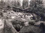 Der Gletschergarten um 1930.