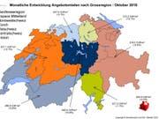 In der Schweiz sind die Angebotsmieten im Oktober um ein halbes Prozent gesunken. (Bild: Immoscout24)