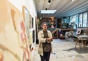 Aramis Navarro in seinem Atelier in einem ehemaligen Swimmingpool. (Bild: Thomas Hary)