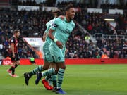 Pierre-Emerick Aubameyang schoss Arsenal zum Sieg (Bild: KEYSTONE/AP PA/JOHN WALTON)