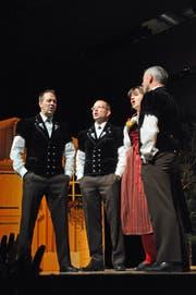 Das Quartett Windstill aus Lauwil sang im Wechsel mit den Jodlern. (Bilder: Michael Hug)