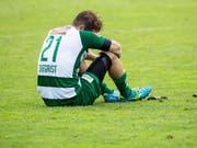 Nico Sigrist schiesst zwar drei Tore, dennoch reicht es Kriens nur zu einem Punkt (Bild: KEYSTONE/ALEXANDRA WEY)