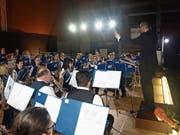 Der Musikverein Buochs an seinem Jahreskonzert. (Bild: Kurt Liembd, Buochs, 24. November 2018)