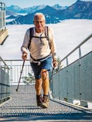 Simon Müller ist dieses Jahr 125 Mal aufs Stanserhorn gewandert. (Bild: PD)