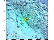 Im Westen Irans sind bei einem Erdbeben viele Menschen verletzt worden. (Bildquelle: United States Geological Survey) (Bild: KEYSTONE/EPA USGS/USGS / HANDOUT)