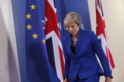 Premierministerin Theresa May am Brexit-Sondergipfel in Brüssel. (Bild: Sean Gallup/Getty (25. November 2018))