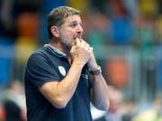 Es ist zum Verzweifeln für den Thuner Trainer Martin Rubin (Bild: KEYSTONE/NICK SOLAND)