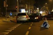 Die Unfallstelle vom Samstagabend im Heiligkreuz in St.Gallen. (Bilder: Stadtpolizei St.Gallen - 24. November 2018)