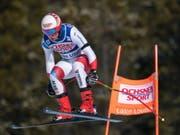 Mauro Caviezel fehlen im Super-G in Lake Louise nur 0,21 Sekunden zum Sieg (Bild: KEYSTONE/EPA/NICK DIDLICK)