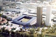 So soll das neue Stadion in Zürich aussehen. (Visualisierung: PD)