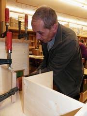Im «Rosengarten» gibt es unter anderem eine Holzwerkstatt. In dieser wurde am Samstag viel Holzstaub erzeugt. (Bild: Kathrin Burri)