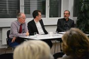 Giorgio Prestele, Dominik Diezi und Cyrill Bischof. (Bild: Monika Wick)