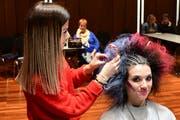 Kreative Frisuren zeigen die Lernenden der Coiffeurbranche am Lets Show Hair in Weinfelden. (Bild: Werner Lenzin)