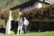 Mit ihrem geschmückten Haus gewannen Margrit und Herbert Roseng den ersten Preis. (Bild: Paul Gwerder (Erstfeld, 13. Oktober 2018))