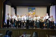 Die Musikgesellschaft durfte unter der Leitung von Franz Inauen grossen Applaus vom Publikum entgegennehmen. (Bild: Monika Wick)