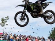 Mit dem Motocross-Grand-Prix of Switzerland bei Frauenfeld TG ist es endgültig aus. Die Organisatoren wollen das Nein der Behörden zur nötigen Baubewilligung akzeptieren (Bild: KEYSTONE/ALEXANDRA WEY)