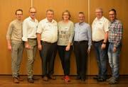 Neue Ehrenmitglieder (von links): Reto Willimann und Jörg Andergassen (beide STV Buchrain), Peter Huber (MR Hochdorf), Agnes Meier (STV Büron), Sepp Imfeld (STV Schüpfheim), Peter Ledergerber (BTV Luzern) und Dieter Peter (STV Sempach). (Foto Marianne Baschung). (Bild: PD)