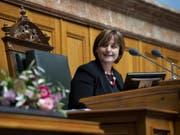 Die Tessiner SP-Nationalrätin Marina Carobbio ist Nationalratspräsidentin. Die grosse Kammer hat die 52-Jährige zu Beginn der Wintersession gewählt. (Bild: Keystone/ANTHONY ANEX)