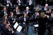 Die Musikgesellschaft Cham spielte ein leidenschaftliches Jahreskonzert im Lorzensaal. (Bild: Stefan Kaiser (25. November 2018))