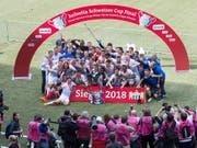 Im vergangenen Mai sicherte sich der FC Zürich den zehnten Cupsieg der Klubgeschichte und verwehrte den Young Boys im eigenen Stadion den Gewinn des Doubles (Bild: KEYSTONE/PETER KLAUNZER)