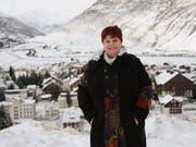 Yvonne Baumann im Januar 2017, ihrem ersten Jahr als vollamtliche Gemeindepräsidentin von Andermatt. (Bild: Urs Hanhart, 4. Januar 2017)
