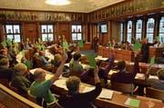 Die Synodalen haben sich gestern im Kantonsratssaal zur diesjährigen Herbstsession getroffen. (Bild: Roger Fuchs)