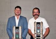Beat Abderhalden (links) und Peter Scherrer wurden zu Ehrenmitgliedern ernannt. (Bild: PD)