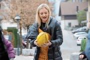 Auch der Nationalsport Australian Football gehört zum Unterricht von Amber Sharp. (Bild: Philipp Unterschütz (Hergiswil, 23. November 2018))