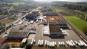 So sieht die Migros-Betriebszentrale Dierikon von oben aus. (Bild: PD)